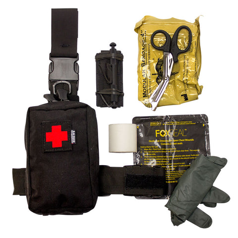 Speed Clip IFAK Pouch, Thigh, Belt, Vest, Kit, Filled