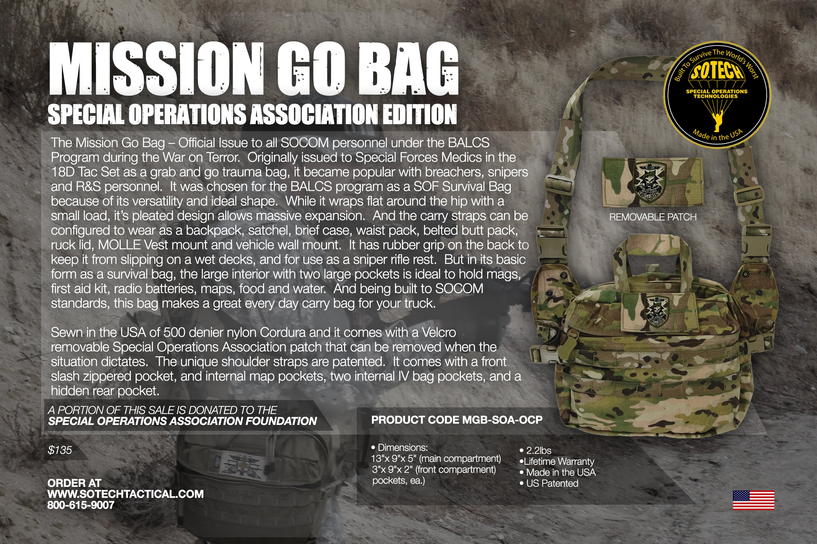 Mission Go Bag A1, Special Operations Association Edition