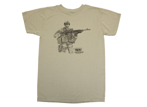 Symbology T-Shirt, Medium Machine Gunner