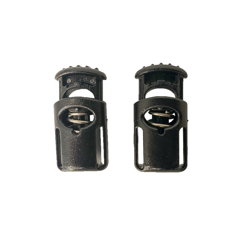 Cord Lock, Spring, Pair, Black
