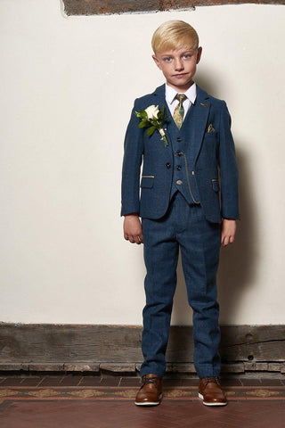 LITTLE BOSS MARC DARCY SUIT DION BLUE