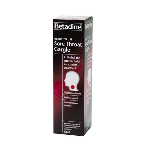BETADINE Ready To Use Gargle, 120mL