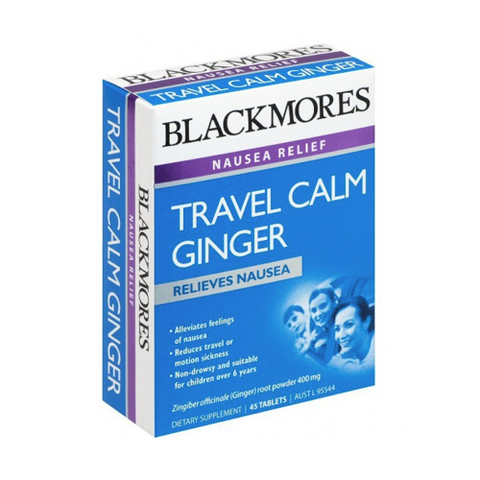 BLACKMORES Travel Calm Ginger Tablets, 45's