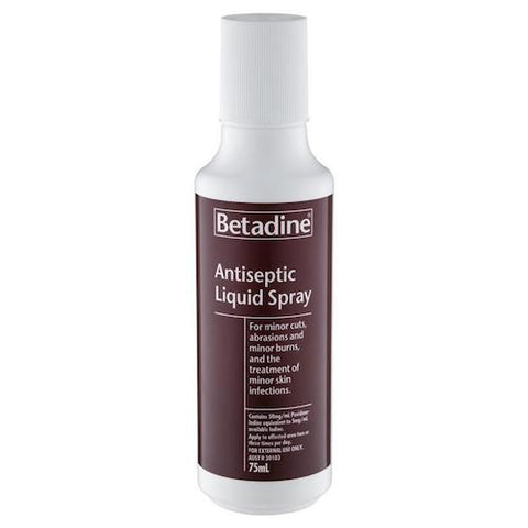 BETADINE Antiseptic Liquid Spray, 75mL