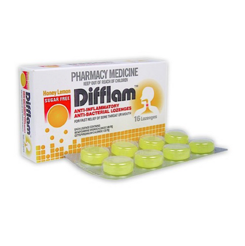 DIFFLAM Sugar Free Lozenges, 16 Pack