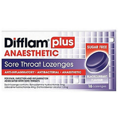 DIFFLAM Plus Anaesthetic Lozenges, 16's