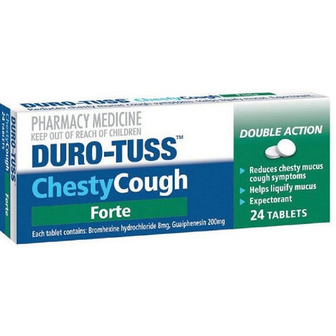 DURO-TUSS Chesty Cough Forte Tablets, 24's