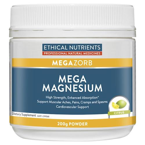 ETHICAL NUTRIENTS Mega Magnesium Powder, 200g