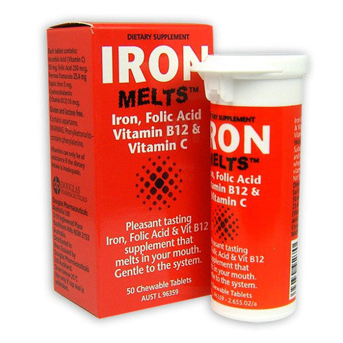 IRON Melts Tablets, 50's
