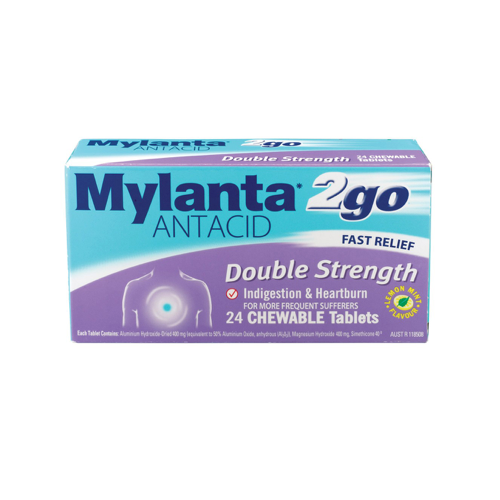 MYLANTA 2 Go Double Strength Tablets, 24