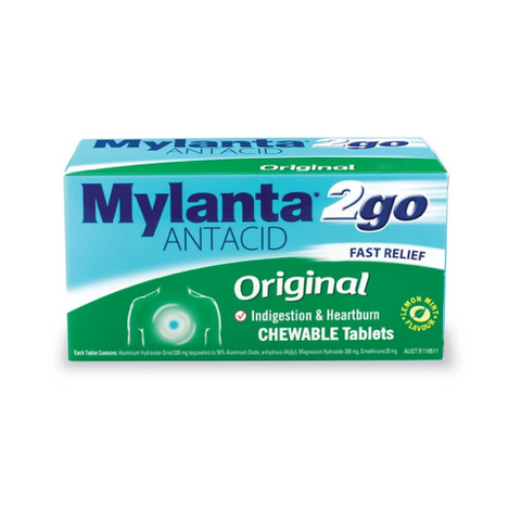 MYLANTA 2 Go Original Tablets, 24's