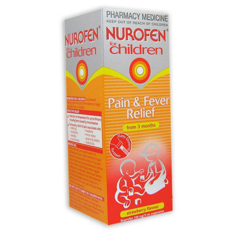 NUROFEN For Children Strawberry Oral Suspension, 100mL