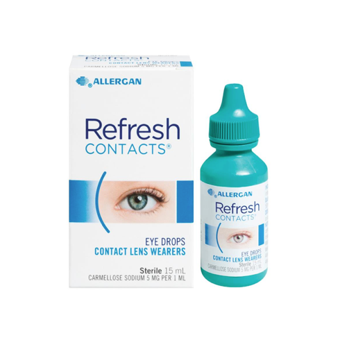REFRESH Contacts Eye Drops, 15mL