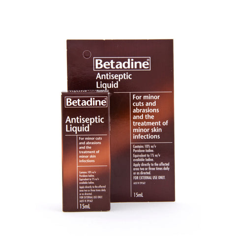 Betadine Antiseptic Liquid, 15ml