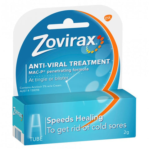 ZOVIRAX Cold Sore Cream, 2g
