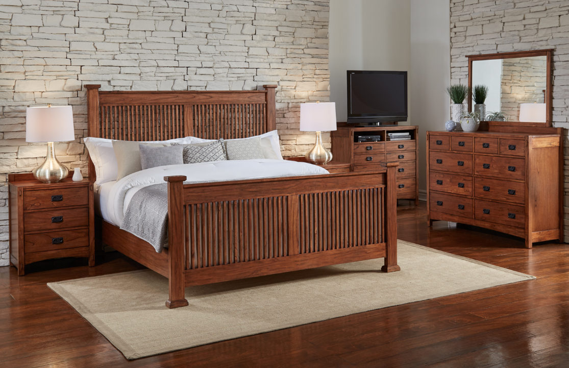 Alpine Ridge King Poster Bed