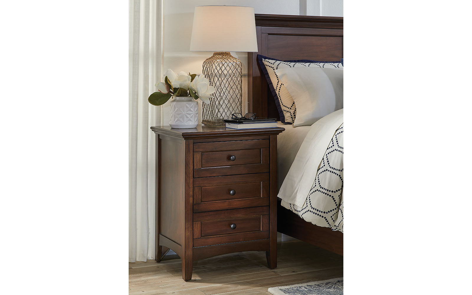 Central Park Nightstand Cherry Brown