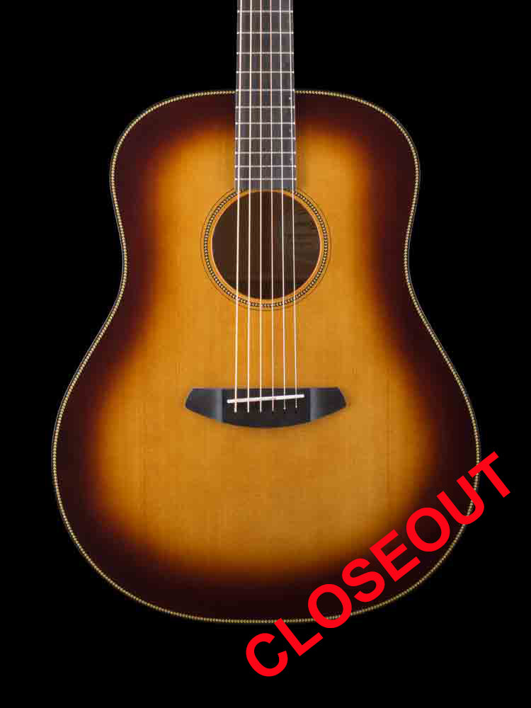 Breedlove Whiskey Burst Dreadnought - Whiskey Burst Sitka Top - Walnut Stained Myrtlewood Back and Sides