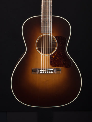 Bourgeois L-DBOS - Aged Tone Adirondack Top - Mahogany Back and Sides - Tiny MOP Dots - Short Scale