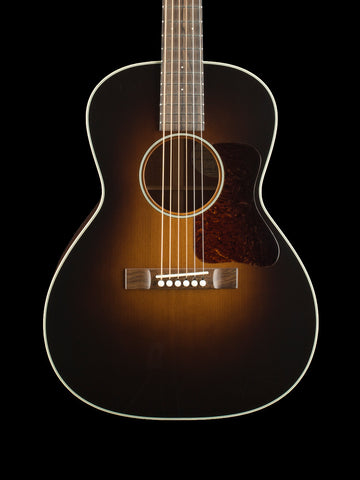 Bourgeois L-DBOS Sunburst - Aged Tone Adirondack Top - Mahogany Back and Sides - MOP Dots