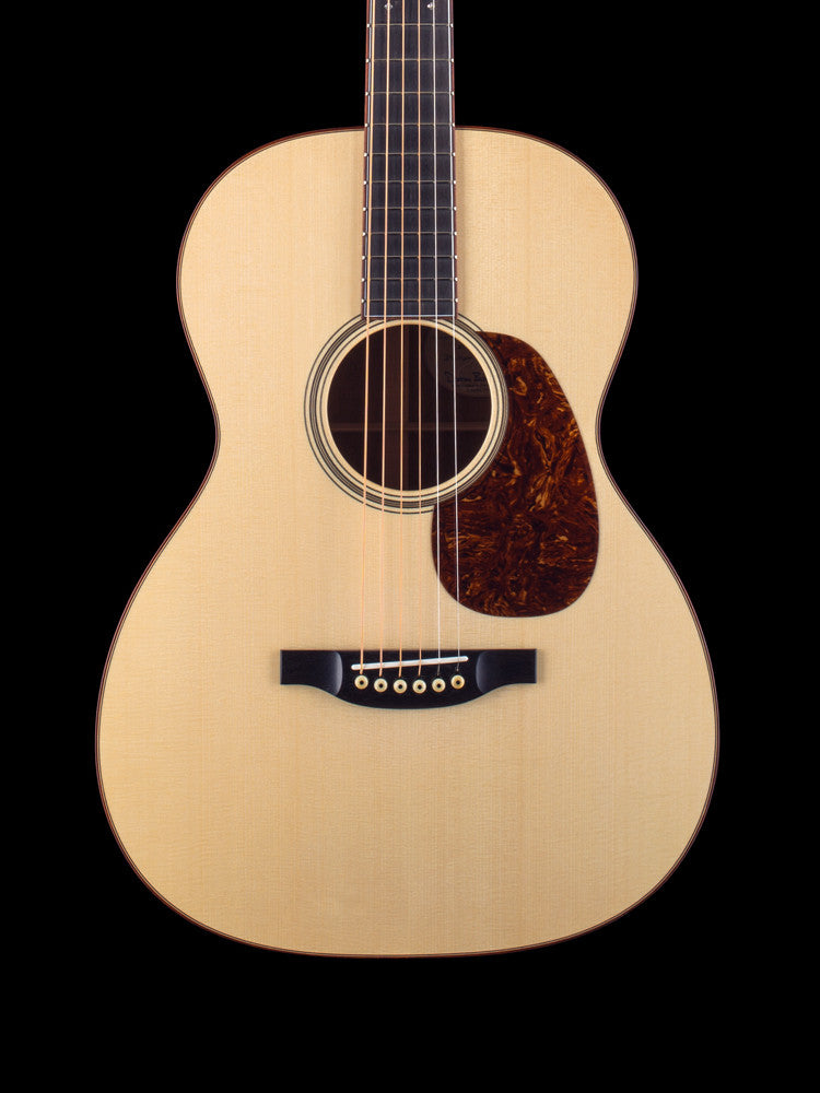 Bourgeois OMS Wood Deluxe - Italian Spruce Top - Premium Multi Figured Mahogany - Multicolor Herringbone