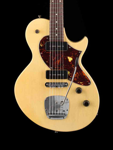 COLLINGS 360LT-M Aged Finish - Warm White - Flame Maple Neck - Rosewood Fingerbosrd - Mastery Bridge and Mastery Vibrato - 6.6lbs