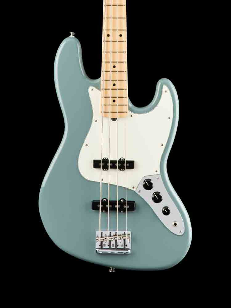 Fender American Professional Jazz Bass - Maple Neck - Sonic Gray - New Elite Case 7.2lbs.