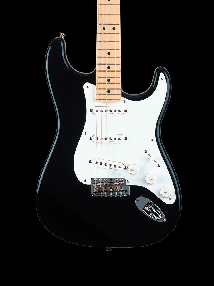 "Fender Eric Clapton Signature Stratocaster ""Blackie"" - Maple Neck - Soft V Shape Neck -  Active mid-boost and TBX tone circuits"