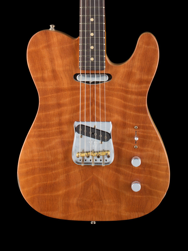 Fender Custom Shop Quilted Redwood Telecaster Relic - Twisted Tele Pickups 6.4lbs.