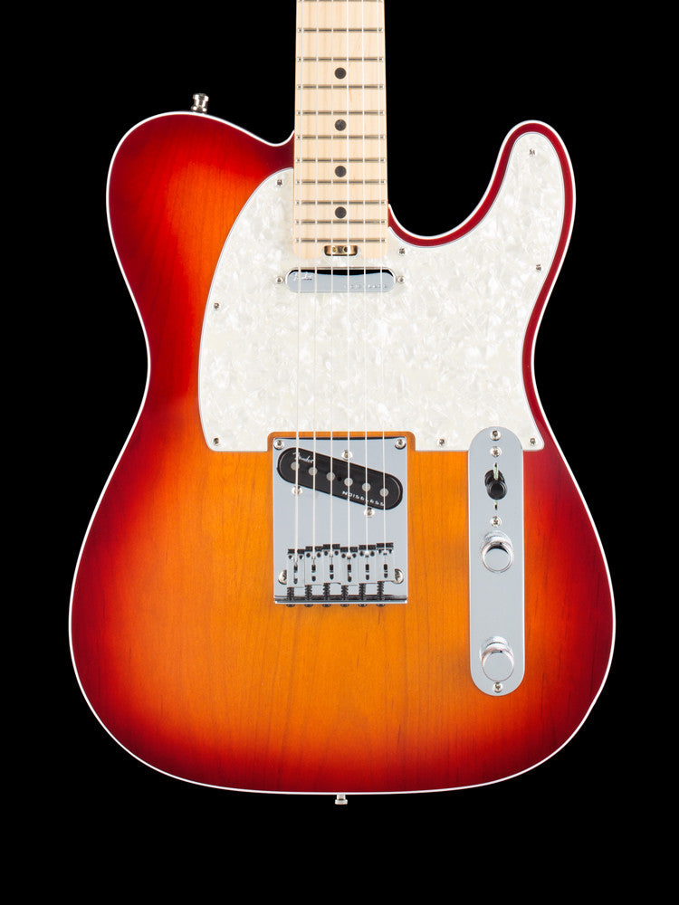 Fender American Elite Telecaster -  Cherry Burst - N4 Noiseless Pickups - S1 Switching 7.6lbs.