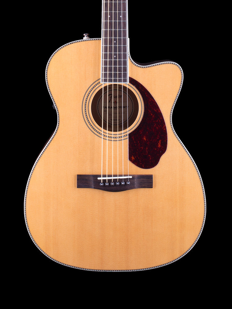 Fender - Paramount PM- Standard Triple-O – Mahogany Back And Sides Rosewood Fingerboard - Rosewood Bridge - Custom Inlays