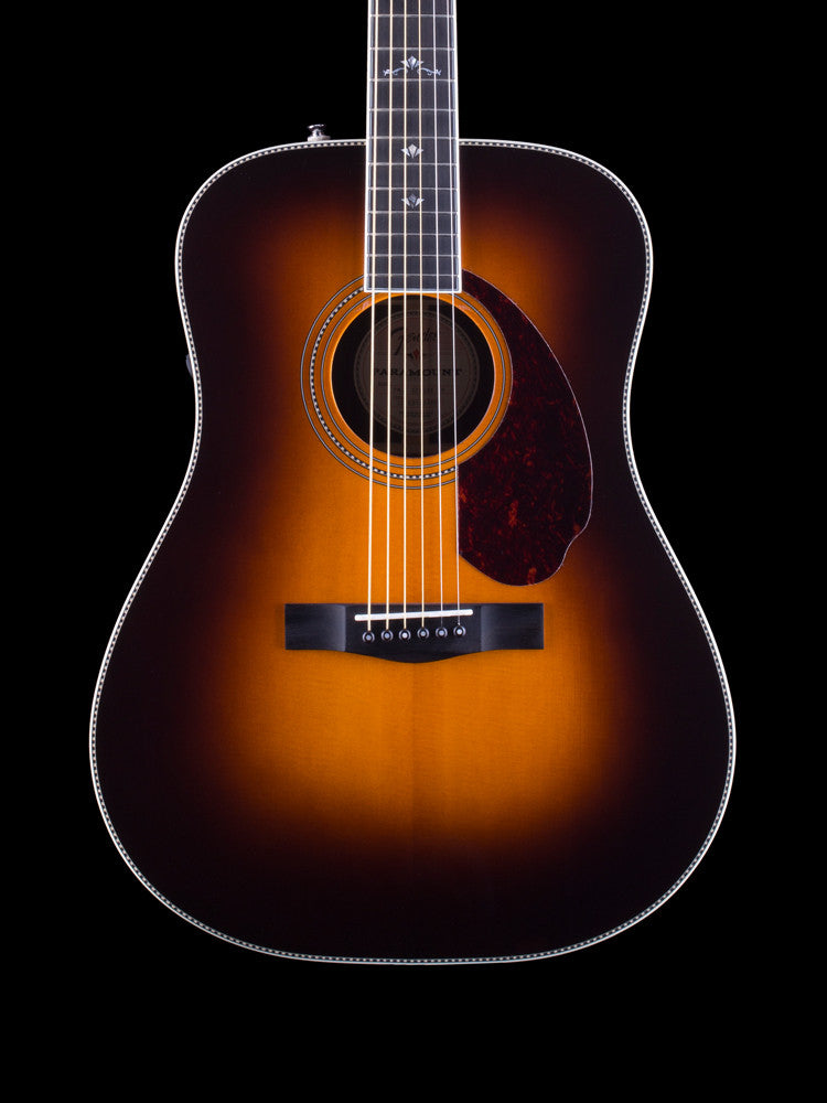 Fender - Paramount PM-1 Deluxe Dreadnought - East Indian Rosewood Back and Sides - Vintage Sunburst - Ebony Fingerboard - Ebony Bridge - Custom Inlays