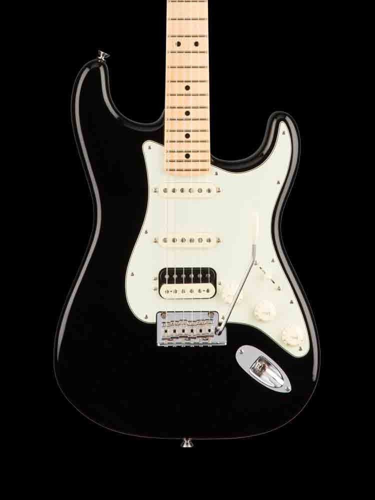 Fender American Professional Shawbucker Stratocaster - HSS - Maple Fingerboard - Black - 8lbs