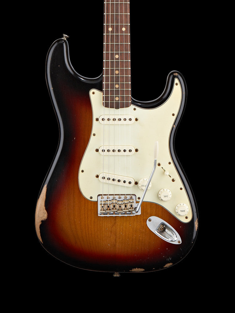 Fender Road Worn 60' Strtocaster - 3-Tone Sunburst