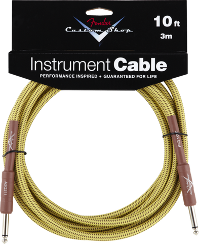 ender Custom Shop Performance Series Right Angle Instrument Cable Tweed
