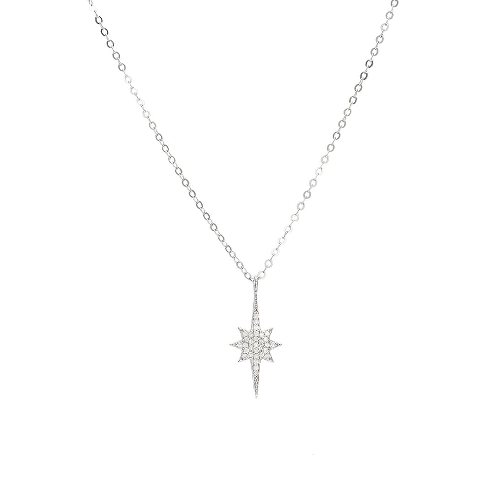 Sterling Silver North Star Necklace