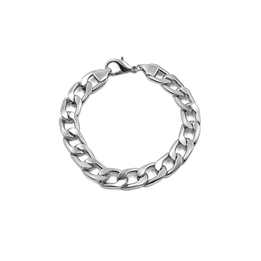 Stainless Steel Chunky Curb Chain Bracelet
