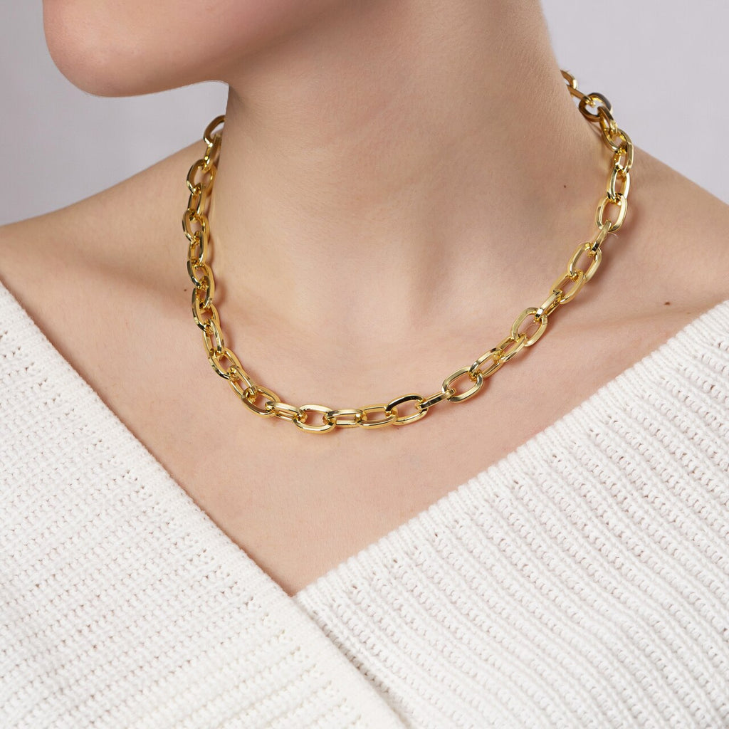 Gold Plated Cable Chain Necklace