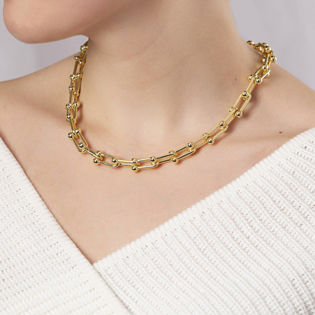 Gold Plated U Chain Necklace