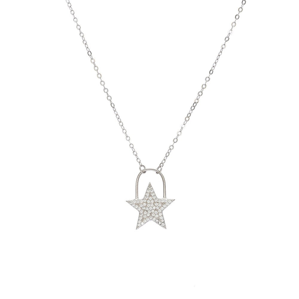 Sterling Silver Simple Star Necklace