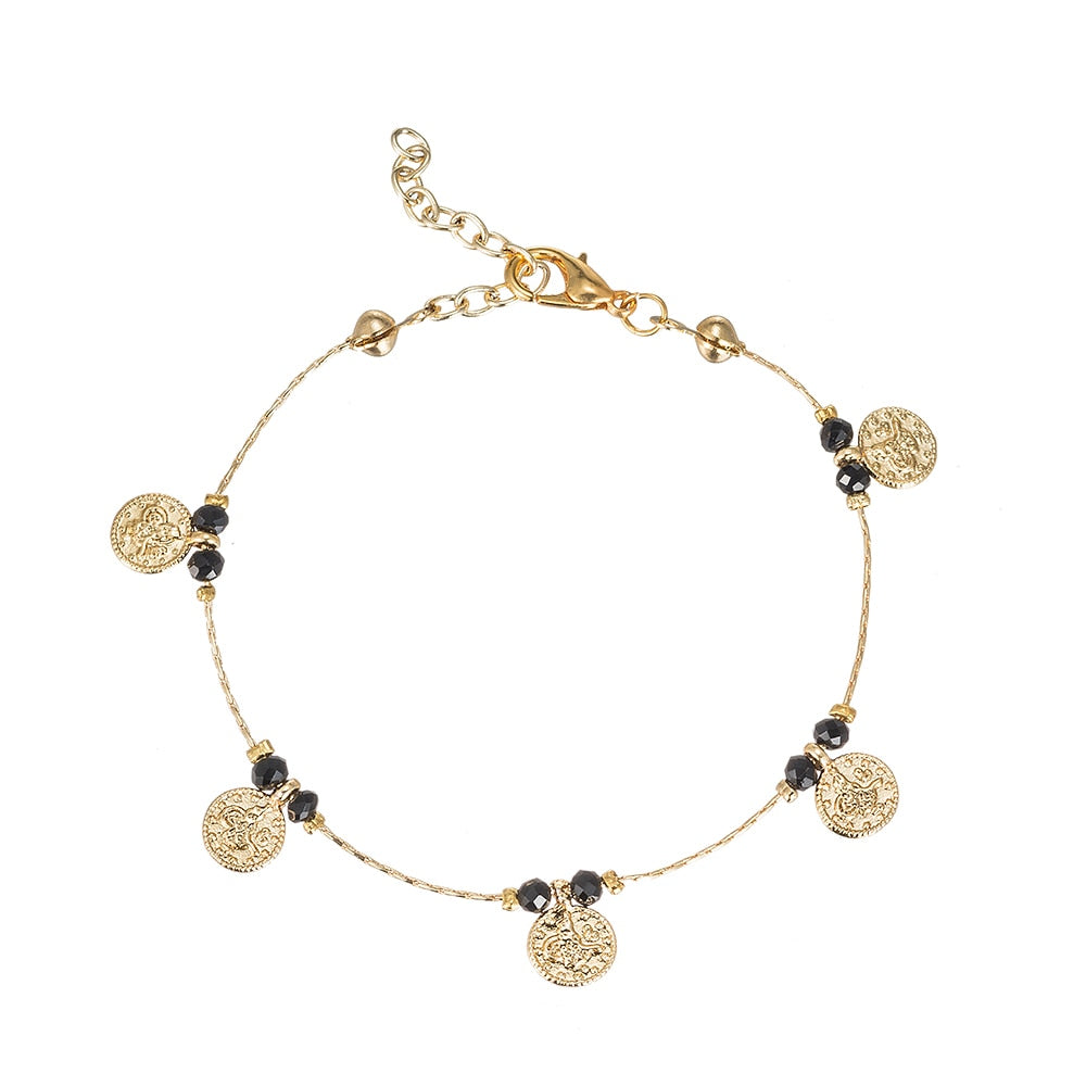 Ottoman Coin Gold Plated Bracelet - Gold Plated Bracelet