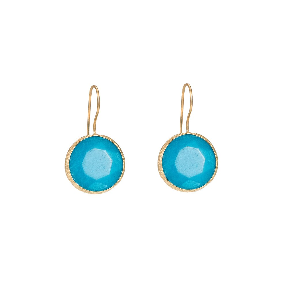 Aqua Blue Dangly Earrings