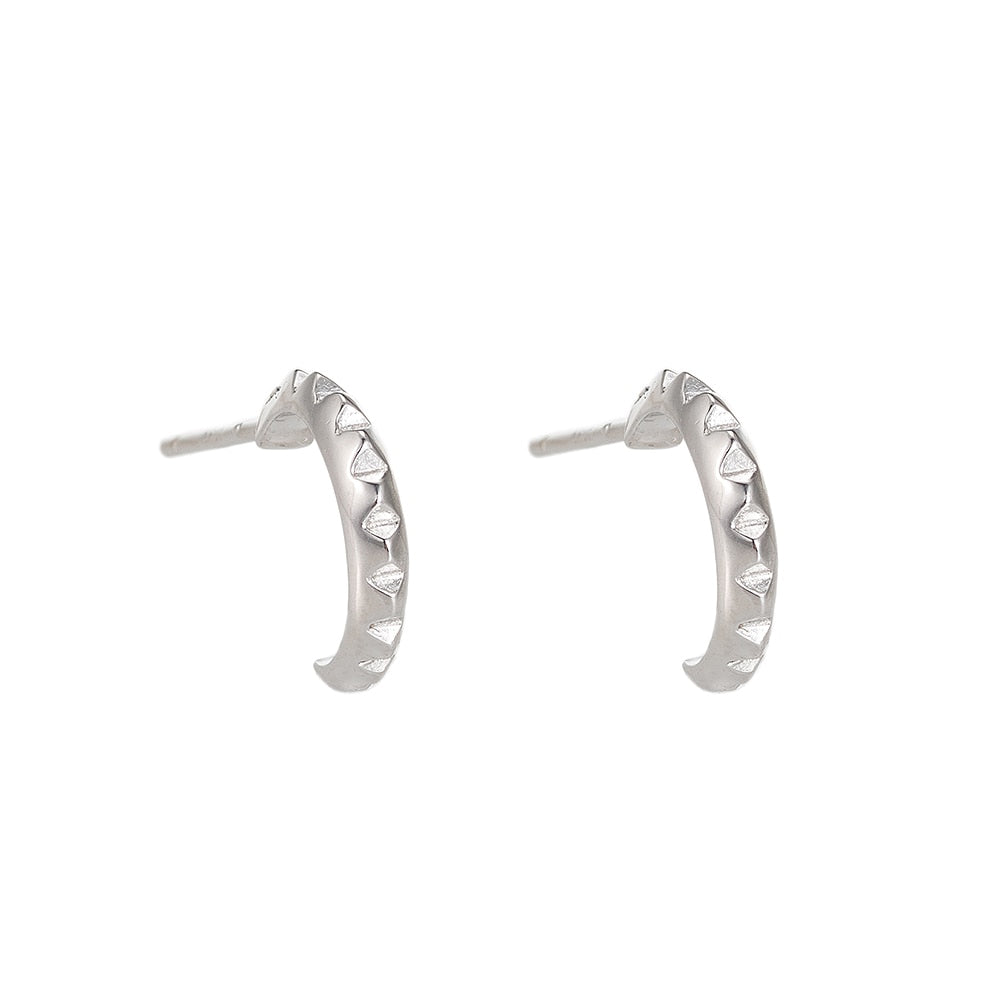 Well Sterling Silver Earrings