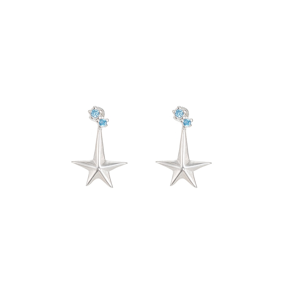 Polestar Sterling Silver Stud Earrings
