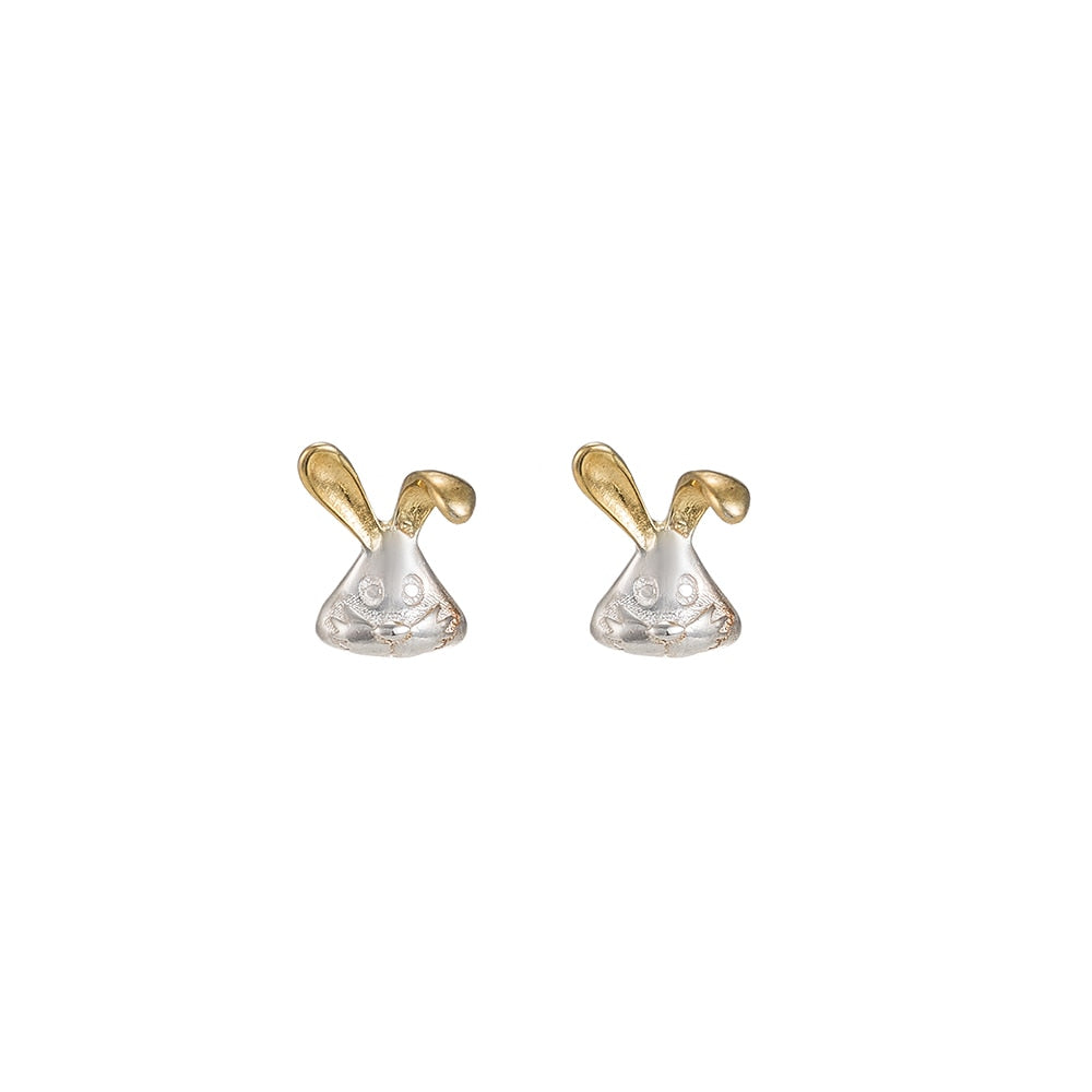 Bunny Sterling Silver Stud Earrings