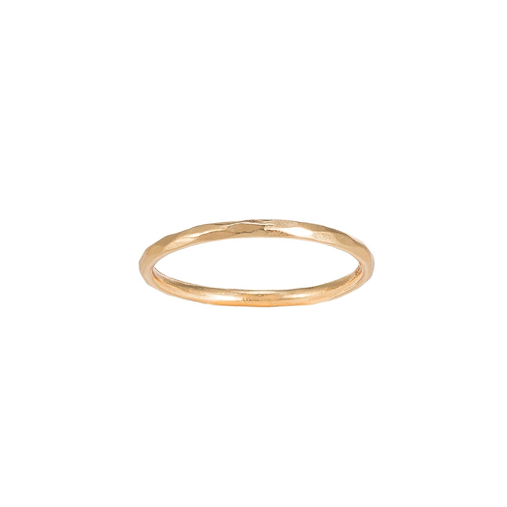 Gold Angled Plain Angled Sterling Silver Ring