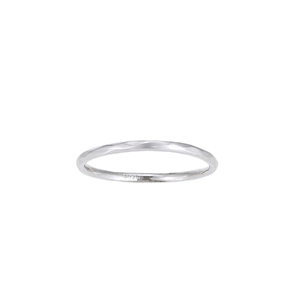 Plain Angled Sterling Silver Ring