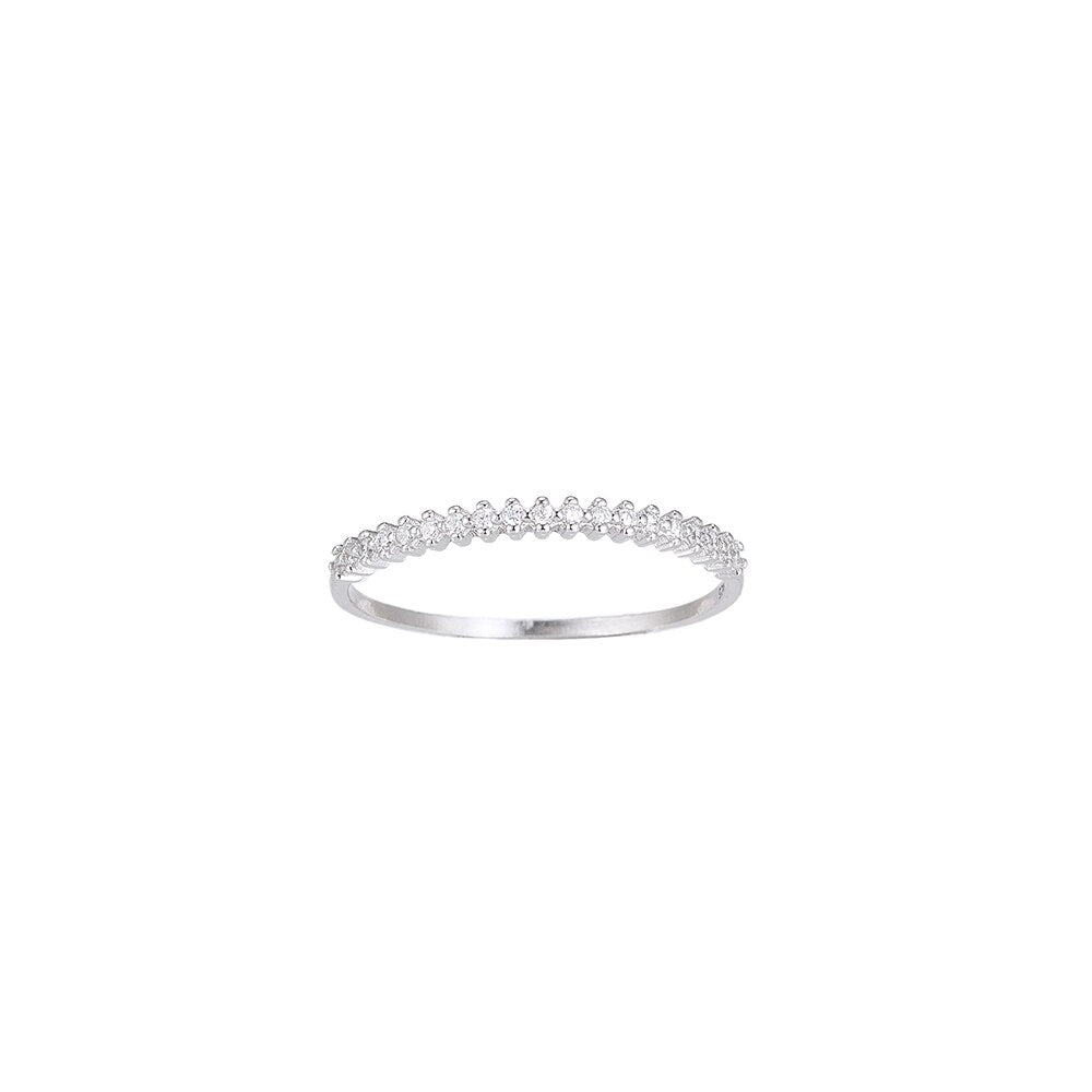 Bunch of Zirconia Sterling Silver Ring