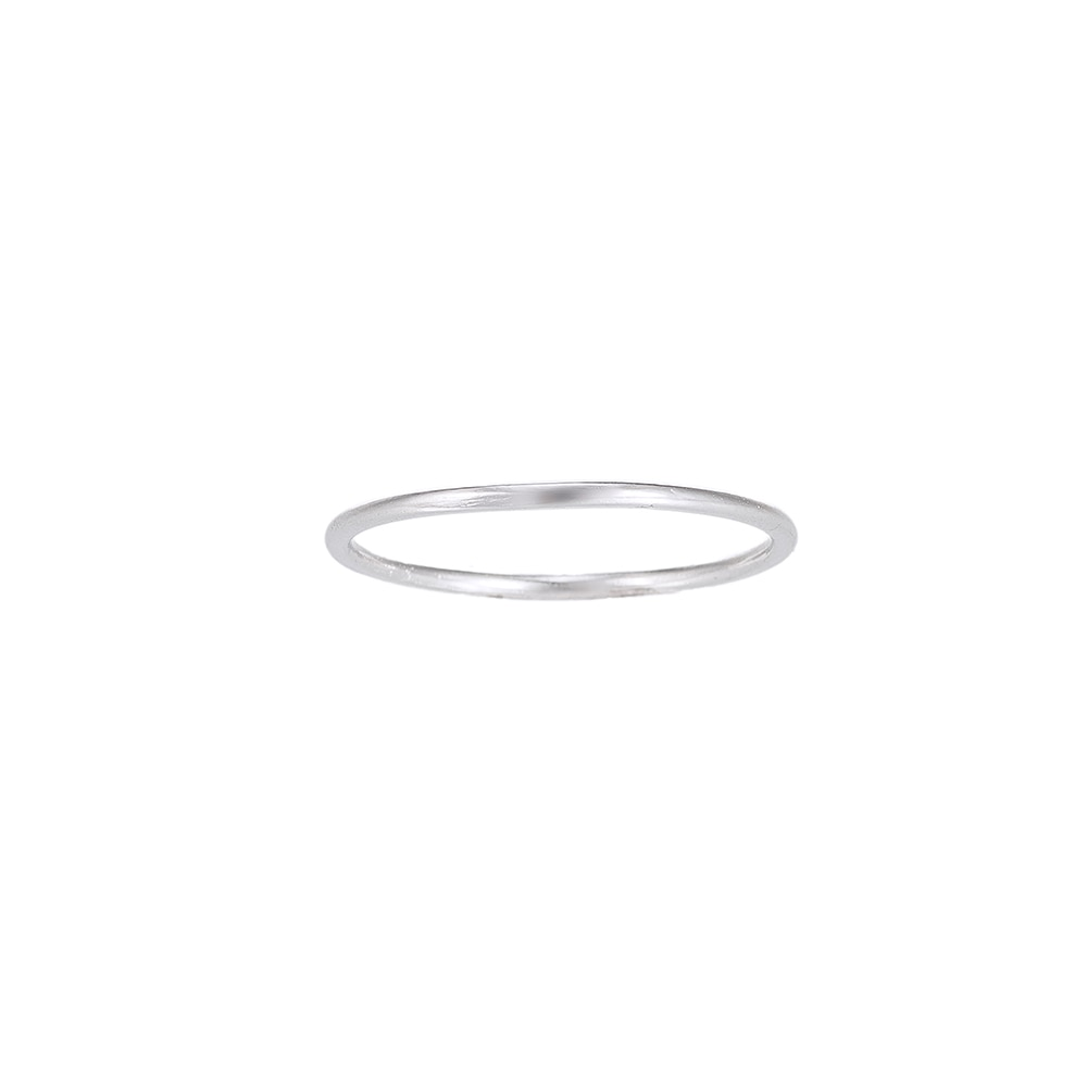 Plain Band Sterling Silver Ring