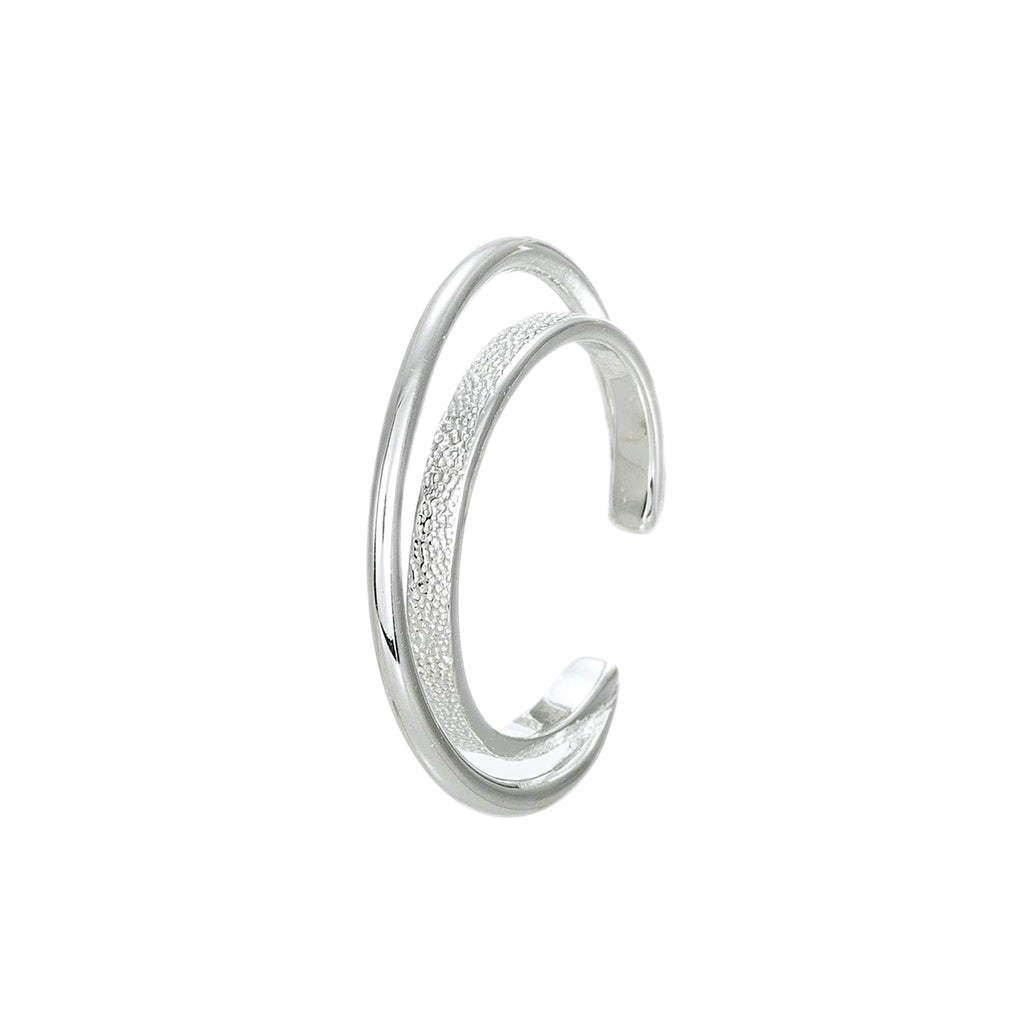 Silver Large Moon Cresent Ear Cuff